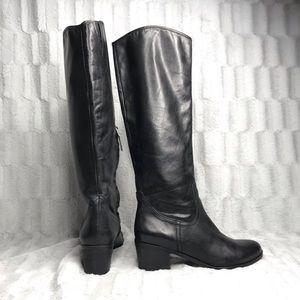 Sam Edelman Loren Black Leather Tall Boots